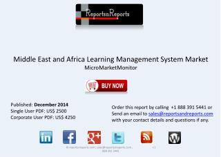 Middle East and African Learning Management Systems Industry
