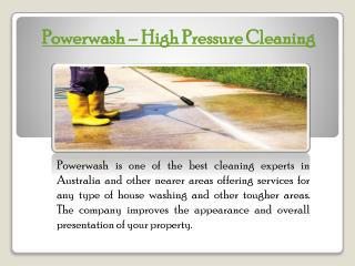 Avail the Quality Roof Cleaning in Coomera from Powerwash