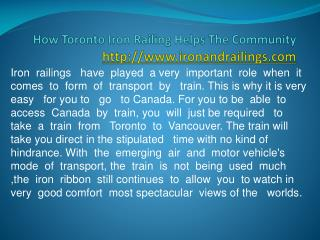 Iron Railings Toronto | Commercial Iron Railings
