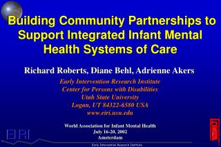 Building Community Partnerships to Support Integrated Infant Mental Health Systems of Care