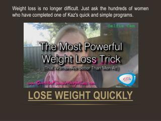 How To Lose Weight Quick