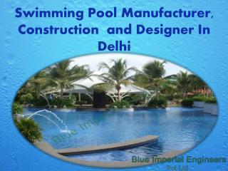 swimming pool manufacturer in Delhi