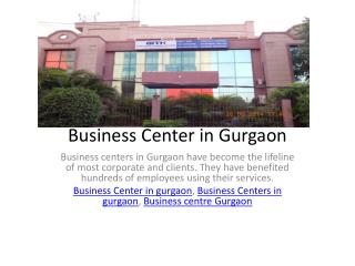 Business Center in Gurgaon