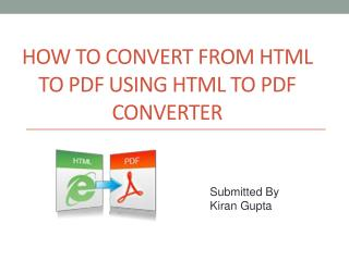 How to Convert from Html to PDF using html to pdf converte