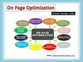 On Page Optimization: Dream Design Labs