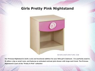 Girls Pretty Pink Night Stand Buy It at Neverland Furniture