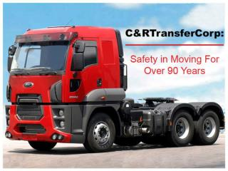 C&R transfer Corp: Professional and Safe machinery movers