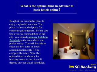 What is the optimal time in advance to book hotels online?