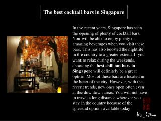 The best cocktail bars in Singapore