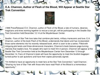 E.A. Channon, Author of Flesh of the Blood