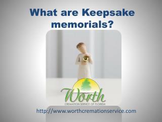what are Keepsake memorials