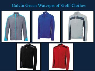 Galvin Green Waterproof Golf Clothes