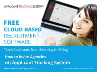 How to invite agencies on Applicant Tracking System