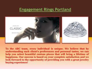 Custom Jewelry Portland