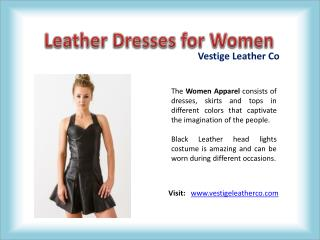 Leather Dresses for Women