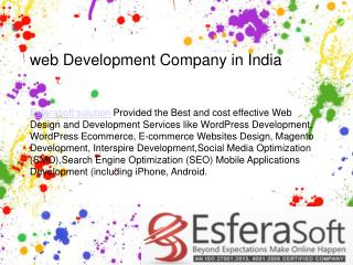 Offshore website development india