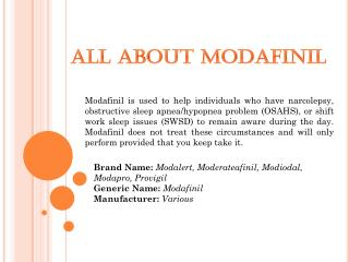 All About Modafinil 200mg
