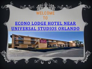 Econo Lodge Hotel Near Universal Studios Orlando