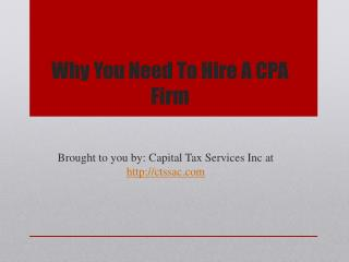 Why You Need To Hire A CPA Firm