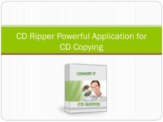 CD Ripper Powerful Application for CD Copying