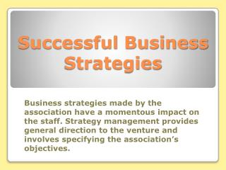 Successful Business Strategies