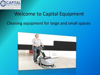 Floor Scrubber Hire - Capital Equipments