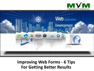 Improve web form- tips to get better result for your website