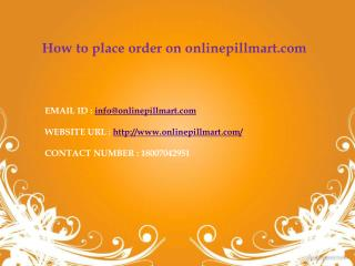 How to place order of abortion pill pack on onlinepillmart?