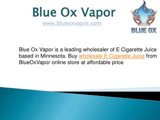 Wholesale E Cigarette Juice