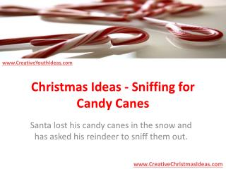 Christmas Ideas - Sniffing for Candy Canes
