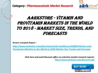 Aarkstore - Vitamin and Provitamin Markets in the World
