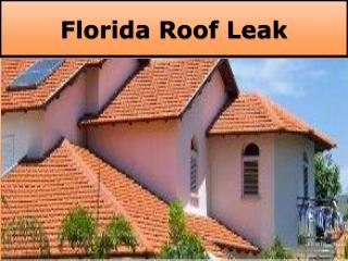 Welcome To The Florida Roof Leak