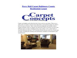 Perry Hall Carpet Baltimore County Residential Carpet
