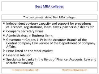 Read more about  best mba colleges