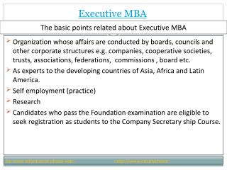 Some logical view  about Executive mba