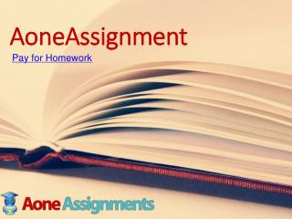 AoneAssignment- Pay for Homework