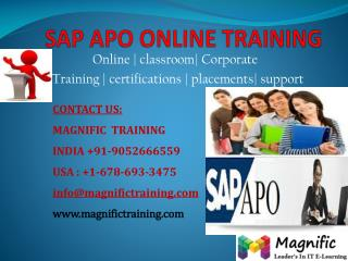SAP APO ONLINE TRAINING IN INDIA