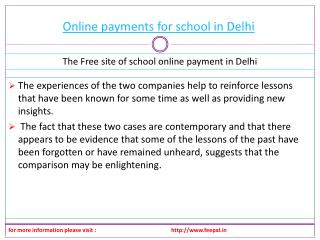 Important Guidelines for online payment for school in Delhi