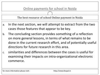 Basic categories of Internet online payment for school in No