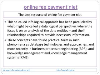 it is some legal points about online fee payment niet