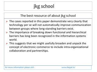 Great Advice For jkg school