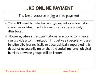 Easily find details about jkg school online payment