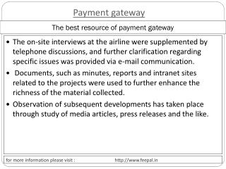 Importance rules of an online payment