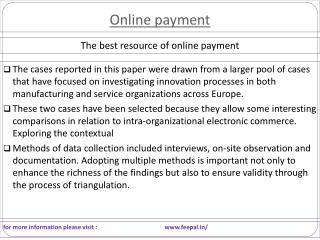 New update about  online payment gateway