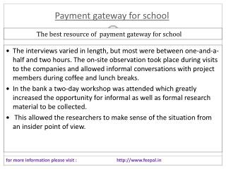 No extra Costs Involved in payment gateway for school