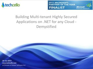 Building Multi-tenant Highly Secured Applications on .NET fo