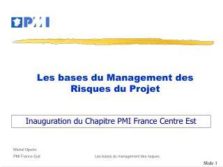 Les bases du Management des Risques du Projet