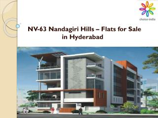 NV-63 Nandagiri Hills – Flats for Sale in Hyderabad