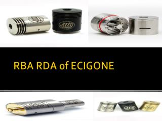 RBA RDA of ECIGONE