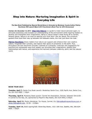 Step into Nature: Nurturing Imagination & Spirit in Everyday